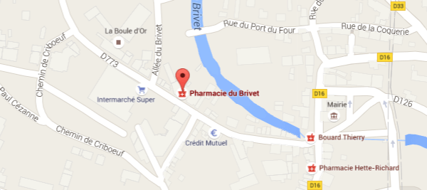 carte-acces-Pharmacie du Brivet